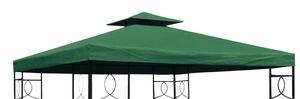 Ersatzdach mit PVC-Beschichtung - Farbe: GRÜN - mit Kaminabzug