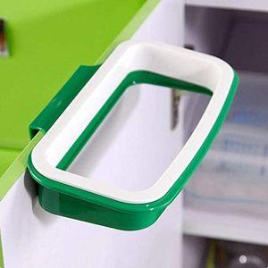 """Hängender Müllsackhalter für Küchenschrank, 8,7 """"x 4,9"""", grün und weiß"""
