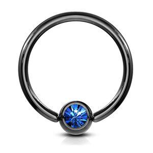 viva-adorno 1,2x10x4mm Universal Piercing Ring BCR Kristall Lippenring Klemmring Septumpiercing Brustpiercing Chirurgenstahl Z294,blau