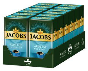 JACOBS Auslese Mild + Sanft Filterkaffee 12 x 500  g Kaffee gemahlen