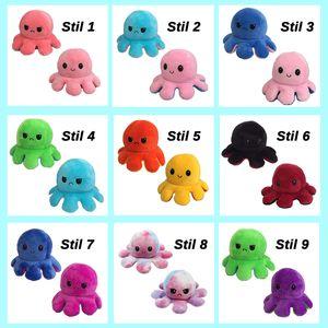 (Stil 12) Kuscheltiere, Niedliche Oktopus-Plüsch-Spielzeug, Doppelseitig Flip Oktopus-Stofftierpuppe, Kreatives Spielzeug, Geschenke für Kinder