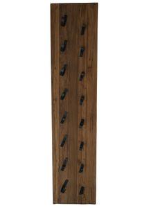 SIT Möbel Weinregal | für 8 Flaschen | Teak-Holz natur | Halterungen aus Metall | B 33 x T 2 x H 148 cm | 07997-06 | Serie ROMANTEAKA
