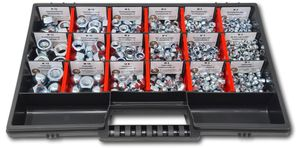 Muttern Sortiment M4-M5-M6-M8-M10-M12 554 tlg. Schraubenbox