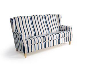 Max Winzer Lorris Sofa 3-Sitzer - Farbe: blau - Maße: 193 cm x 86 cm x 103 cm; 2900-3100-2077808-F01