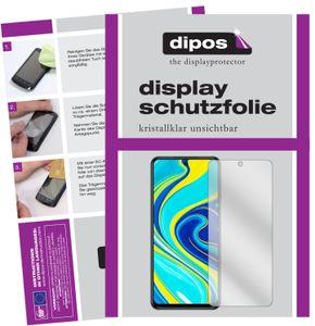 2x Xiaomi Redmi Note 9 Pro Schutzfolie klar Displayschutzfolie Folie Display