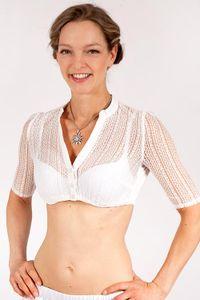MarJo Dirndlbluse »Emma-Linda« in creme mit Halbarm Größe: 40