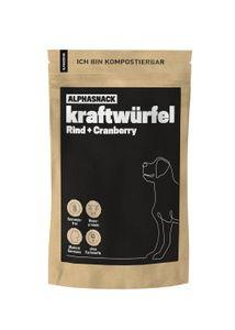 alphazoo kraftwürfel Rind + Cranberry 200g | Leckerli Hunde getreidefrei | Energie für das Hunde-Training | gesunder Fleischsnack zur Belohnung…