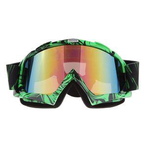 Motorrad ATV Dirt Bike Racing Brille Brille Anti-UV Staub Grün Farbe Grüne Farbe