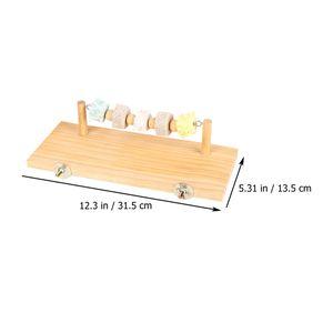 1pc Parrot Holzbrett Spielzeug Holz Parrot Ständer Scheibenständer für Parrot (beige)