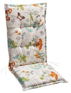 Best Freizeitmöbel Sesselauflage hoch STS 120x50x7cm Weiß-Motiv, 4201543