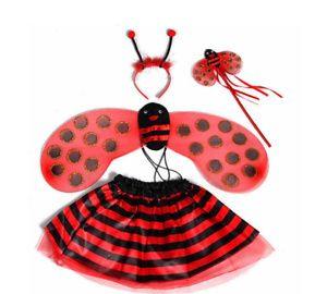 Mädchen Bee Ladybird Kostüm Tutu Rock Kostüm Party Tanz Marienkäfer Cosplay