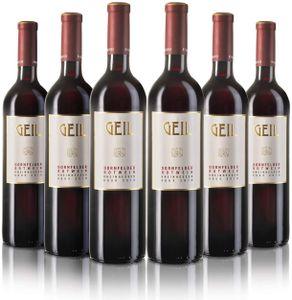 6 Flaschen Dornfelder Rotwein 2020 | lieblich/süß | Oekonomierat Johann Geil Erben | Reihnhessen | Deutscher Wein | Nr. 2008