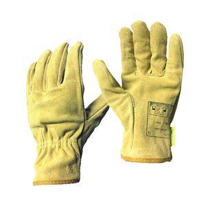 Kurz Hitzebeständige Handschuhe Schweißerhandschuhe Arbeitshandschuhe Sicherheitshandschuhe für Schweißen Hellgelb