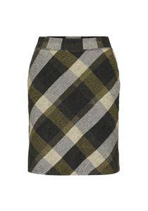 Minirock mit Karomuster , Größe:36, Farbe:25415|BLACK YELLOW CHECK KNITT
