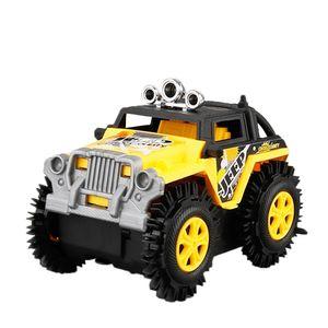 Kinder Elektro Stunt Flip Spielzeug Auto Cartoon Puzzle Dump Truck Offroad Kletterer Klettern Fahrzeug Gelb