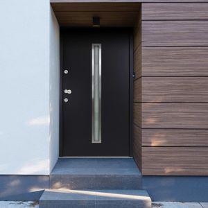 Hochwertigen Haustür / Tür Aluminium Anthrazit 90x200 cm