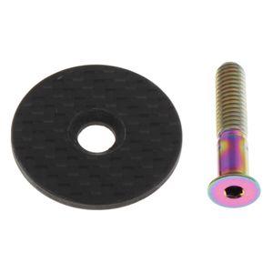 1 Set Headset Top Cap Lenkerabdeckung mit Bolzen Lenkerstecker für MTB Farbe Mehrfarbig