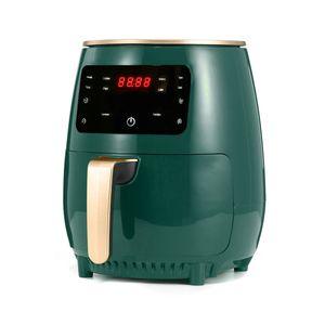 NEUFU Heißluftfritteuse Heißluft Heissluft 4.5L Digital LCD Airfryer Timer Elektrische Friteuse Grün EU-Stecker