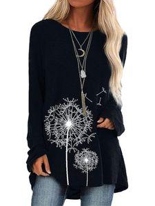 Übergröße Damen Langarm Top Pullover T-Shirt,Farbe: Schwarz,Größe:XXL