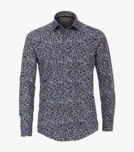 Casa Moda - Casual Fit - Herren Freizeit Hemd mit modischem Muster (493290200A), Größe:L, Farbe:Rot (400)