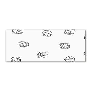 Tulup® Leinwandbild - 125x50 cm - Wandkunst - Drucke auf Leinwand - Leinwanddruck  - Sonstige - Schwarzweiß - Abstraktes Muster