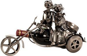 Flaschenhalter Paar auf Motorrad 37 cm Weinhalter