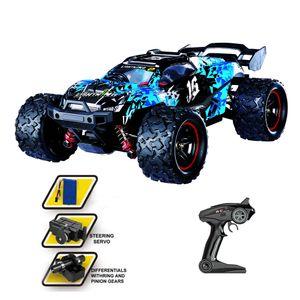 Ferngesteuertes Auto 1:18 60 km / h Offroad-ferngesteuertes Auto Monster Truck Racing Toy-Blue