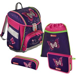 Step by Step TOUCH 2 Schulranzen-Set, 4-teilig, Shiny Butterfly