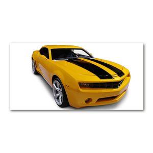Tulup® Leinwandbild - 140x70 cm - Wandkunst - Drucke auf Leinwand - Leinwanddruck  - Fahrzeuge - Gelb - Sportwagen