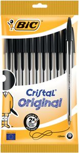 BIC Kugelschreiber Cristal Original schwarz im 10er Beutel