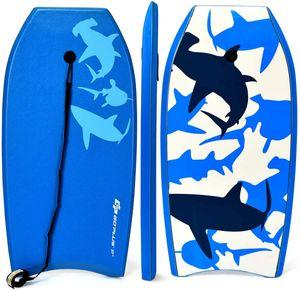 GOPLUS Surfboard Surfbrett Bodyboard Shortboard Schwimmbrett Farbwahl, Schwimmboard 105x51x6cm