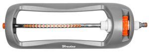 Bradas Viereckregner WHITE LINE 18 Düsen grau/orange