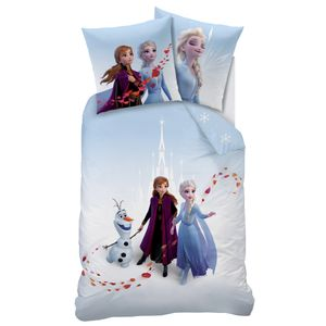 Disney Frozen 2 Bettwäsche 80x80 + 135x200 cm · Eiskönigin 2 Anna und Elsa Bettwäsche für Kinder / Mädchen - 100% Baumwolle