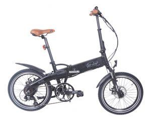 E-Bike in schwarz matt Klapprad Pedelek im Retro Design Klappfahrrad  7 Gang E Bike mit Alurahmen Shimano Schaltung Samsung Akku hochwertig zwei Scheibenbremsen Faltrad Elektro Fahrrad