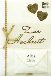 Hochzeitskarte Geldgeschenk mit Herzen, mit Umschlag