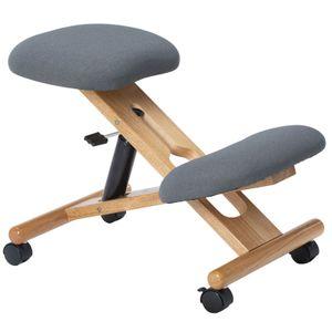 Kniehocker VILLACH höhenverstellbar, ergonomisch in grau