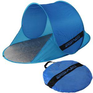 Strandzelt Pop up Zelt Automatik Strandmuschel Sportvida Sommer Meer Sonnenschutz Outdoor Wasserzelt 190 x 120 x 90 Blau