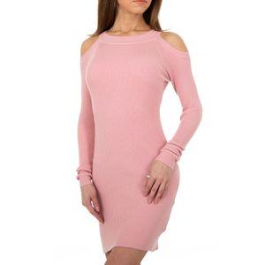 Ital-Design Damen Kleider Strickkleider Rosa Gr.m/L