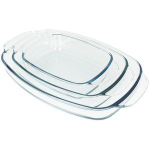 Ofenschalenset 3 Stück Auflaufform Set Glas Ofenschale Ofenform Bratform Ofen Schale Lasagneform