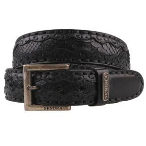 Sendra Gürtel Python black 8347 schwarz, Länge:90 cm