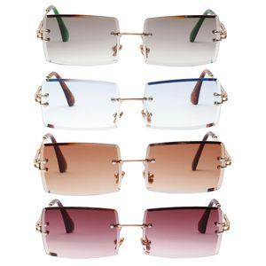 4 Stück Damen Getönte Sonnenbrille Rectangle Damenmode UV400 Brille Partybrillen Sonnenbrillen