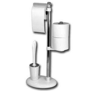 WC-Garnitur - Papierrollenhalter - Toilettenbürste - Hygieneständer
