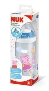 NUK 10255612 Peppa Pig Kiddy Cup, 300 ml, mit Trinktülle und Clip, ab