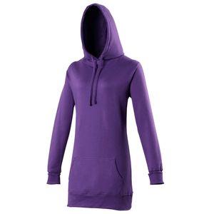 Awdis Girlie Damen Kapuzen Pullover extra lang RW167 (S) (Violett)