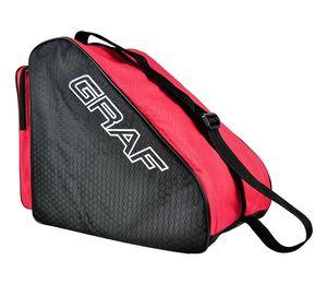 Graf Schlittschuh Tasche, Farbe:schwarz/rot