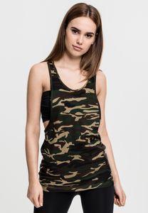 TB716 Ladies Camo Loose Tank Top , Größe:XS, Farbe:wood camo