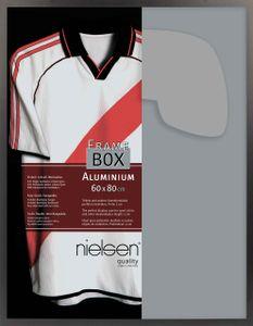 Nielsen Aluminium Bilderrahmen Framebox II, 60x80 cm, Eloxal Schwarz Matt, Acrylscheibe