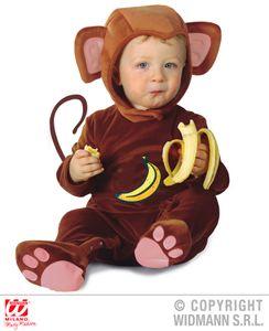Kinderkostüm Äffchen Kostüm Baby Affe 90 cm
