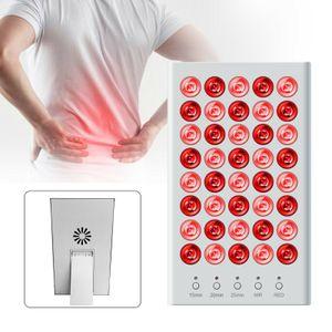 Infrarotlampe 40 LED Infrarot Lampe Panel Tpie Wärmetpie Rotlicht Massage Lampe Ganzkörper Tpielampe mit Halterung 50W