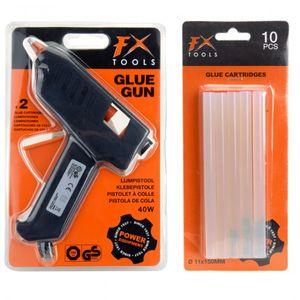 FX Tools Klebepistole Heißkleber Heißklebepistole + 12 Klebestifte Basteln Kleben